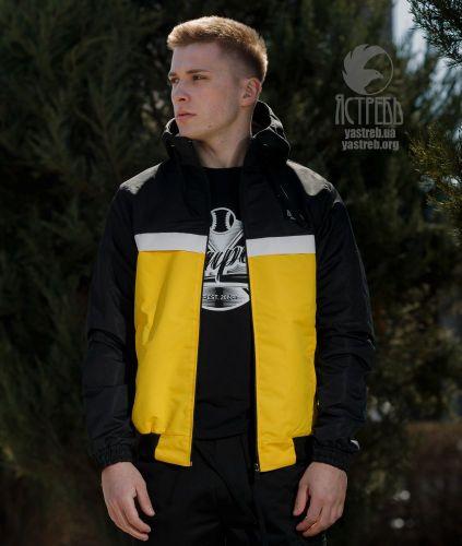 Ветровка Casual 80s - Черно-Желтая