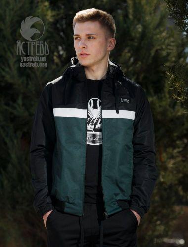 Ветровка Casual 80s - Черно-т. Зеленый