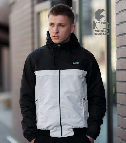 Ветровка Casual 80s - Черно-Белая