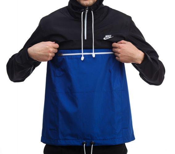 """Анорак """"Nike"""" Черно-Синий"""