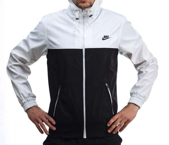 """Ветровка """"Nike"""" Бело-черная"""