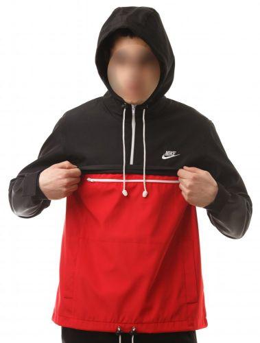 """Анорак """"Nike"""" Черно-красный"""