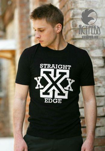 "Футболка ""Straight Edge"" Черный"