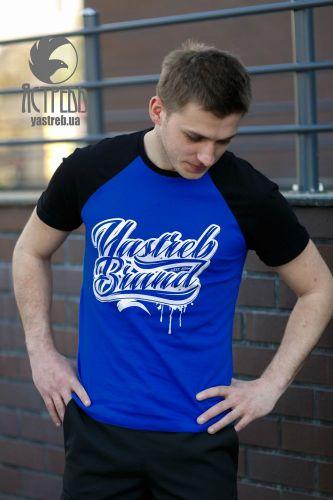 """Футболка """"Yastreb Brand"""" Черно-синий"""