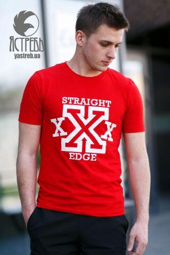 "Футболка ""Straight Edge"" Красный"