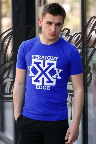 """Футболка """"Straight Edge"""" Электрик"""