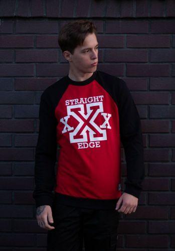 "Свитшот ""Straight Edge"" (Весенний) Черно-красный"