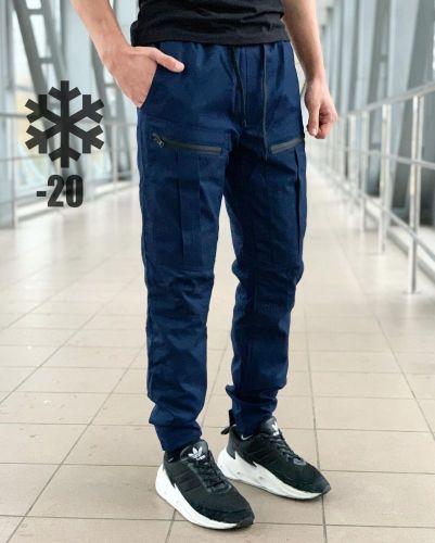 Штаны Straight (Зима) Синий
