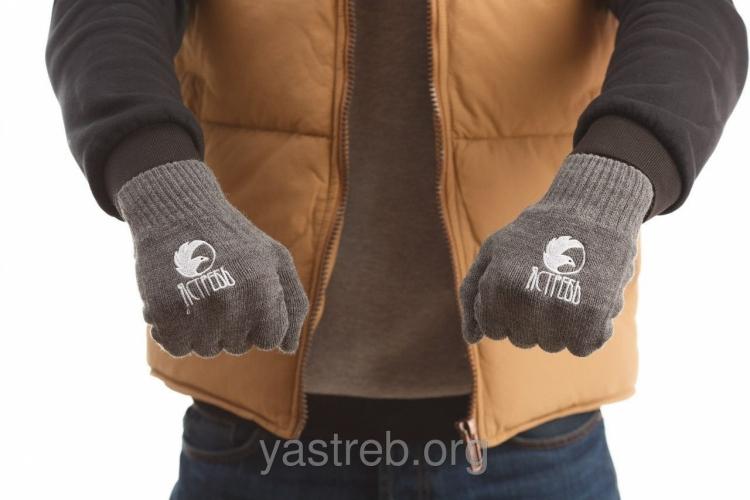 Перчатки Серый