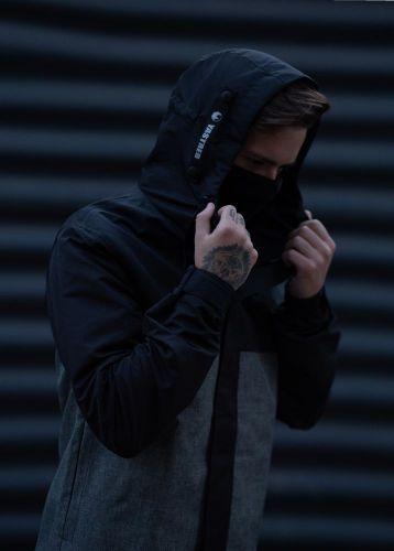 """Парка """"Hawk jacket"""" Черно-серая"""