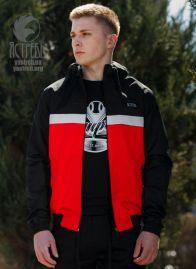 """Ветровки """"Casual 80"""" черно-красная"""