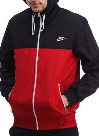 """Ветровка """"Nike"""" Черно-красная"""