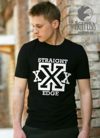"Футболка ""Ястребь"" Straight Edge черный"