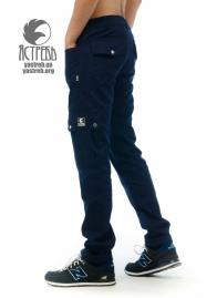 Штаны Cargo Pants без манжетов т.синие