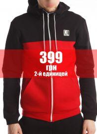Кофта-Олимпийка (Hачес) Черно-красная