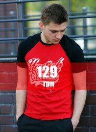 """Футболка """"Yastreb Brand"""" Черно-красный"""
