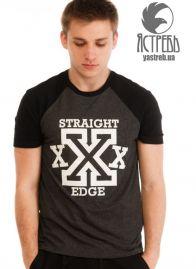 "Футболка ""Ястребь"" Straight Edge черный-антрацит"