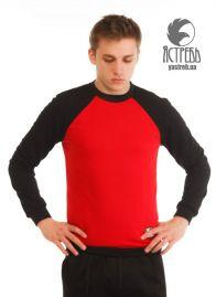 Свитшот Базовый  (Весенний) Черно-красный
