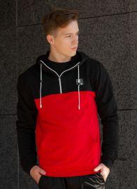 Кофта-Анорак (Без начеса) Черно-Красный