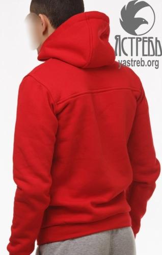 Кофта-кенгуру красная (зима)