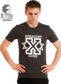 "Футболка ""Straight Edge"" Антрацит"