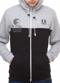 Кофта - олимпийка черно-серая (зима)