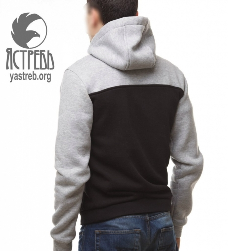 Кофта-Анорак серо-черная (зима)